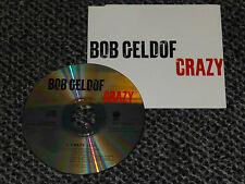 BOB GELDOF CRAZY UK 1994 VERTIGO 1 TRACK PROMO CD