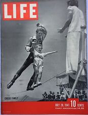 LIFE MAGAZINE Jul 28 1941 * DeGaulle* German Army to Moscow* Shelter Suffocation