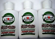 Three  BOTTLES of Pautzke Bait Liquid Krill 2 Fl Oz Bottles (6 fl oz Total)