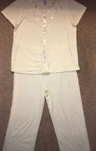 Women's Breakfast In Bed Plus Short Sleeve Pajama Set Sleepwear Size XL  NWOT