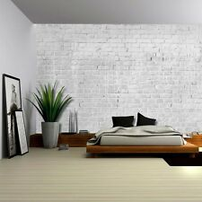 Wall26 - Gray and Grungy Brick Wall with Dripping White Paint - Wall Mural-66x96