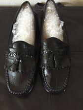 Giorgio Brutini mens 8.5 black leather tassel dress Loafers shoe