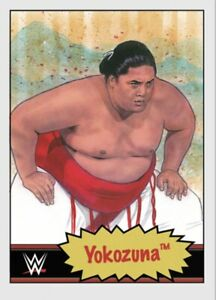 TOPPS WWE LIVING SET CARD YOKOZUNA #72 ONLINE EXCLUSIVE LIMITED EDITION