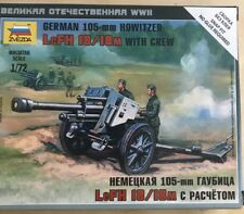 ZVEZDA 1/100 WWII GERMAN 105MM HOWITZER WITH CREW