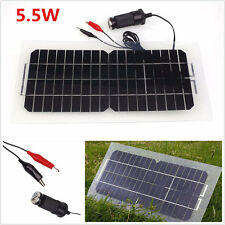 Portable 12V 5.5W Solar Panel Car Battery Charger Universal For Automobile Motor