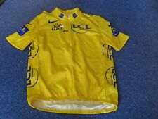TOUR DE FRANCE 2005 NIKE YELLOW LEADERS CYCLING JERSEY [L].