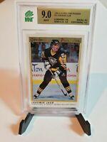 1990-91 OPC Premier Jaromir Jagr Rookie #50 Penguins. MNT 9 BGS PSA