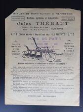 Rare ancienne publicité Charrue Thébaut BON ETAT Machine agricole
