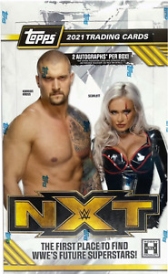 2021 Topps WWE NXT Wrestling Hobby Box Sealed 2 Auto Per Box