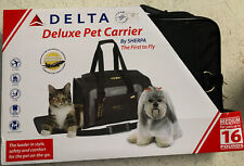 New listing Deluxe Airline Approved Pet Carrier Black Medium travel safety machine washable