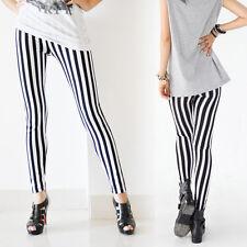 Vertical  Skinny Chic Look Stripe Zebra Leggings Pants Autumn For Women