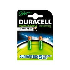 Duracell rechargeable precharged NiMH 800mah AAA hr3 1,2v - 2 unid.
