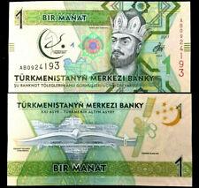 Turkmenistan 1 Manat Year 2017 Banknote World Paper Money UNC Currency Bill Note
