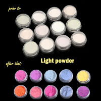 12 Colors UV Light Photochromic Pigment Nail Powder Color Changing Decoration