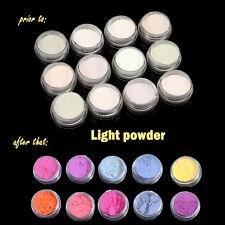 12 Colors Nail Art Glitter Neon Nail Dust Glow in the Dark Powder Pigment Set