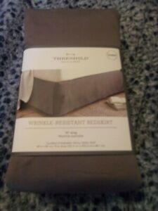 Threshold Wrinkle-Resistance Bedskirt Queen Gray