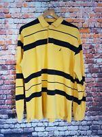 Mens NAUTICA long Sleeve Polo Shirt rugby XL. RARE USA