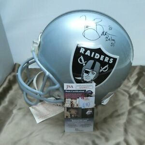 Tim Brown Signed Full Size Authentic Pro Oakland Raiders Helmet with JSA COA