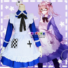 Anime Axis Powers Hetalia Lolita Sweet Blue Maid Dress Cosplay Costume Princess