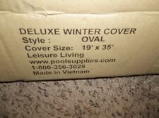 leisure living 19' x 35' Oval  Winter Pool Cover