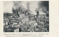 SAN FRANCISCO CA - Skyscrapers In the Grip of 1906 Fire All Buildings Destroyed