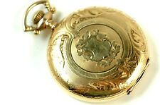 EXCELLENT Waltham Man's S16 Hunter Cased Pocket Watch 17J RUNS NR