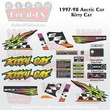 1997-98 Arctic Cat Kitty Cat Graphics Decal Reproduction Full Kit 20 Pieces