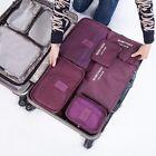 6 Pcs/Set Travel Luggage Storage Bag Clothes Storage Organizer Pouch Case# EA