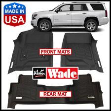 Westin Wade Sure-Fit Custom Molded 2015-2019 Chevrolet Tahoe Floor Mats BLACK
