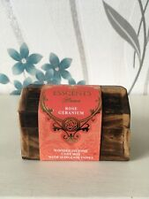 Wooden Incense Box With Cones Rose Geranium Fragrance