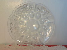 Vintag Walther Glass Mikasa Crystal Cherry Blossom Gourmet Plate Serving Platter