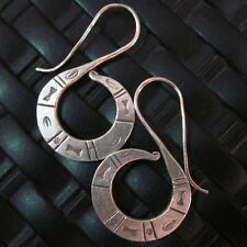 Thai Hill Tribe Earrings Fine Silver argento orecchini oorbellen Engrave Retro