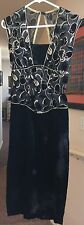 New Leaf by Samir Evening Gown Women's Size 5/6 Black with Gold Sequins