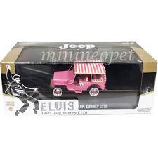 Greenlight 86472 Elvis Presley 1960 60 Jeep Surrey Cj3B 1/43 Chase Car Pink
