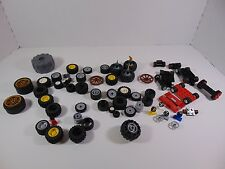 Huge Lot of LEGO Auto Car CHASSIS, WHEELS, TIRES Parts & Piece Lot