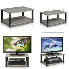 Modern Small Coffee Table Wood End Storage Stand Tv Living Room Furniture Grey