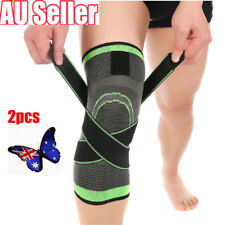 2 x 3D Weaving Knee Brace Breathable Sleeve for Running Jogging Sports Pad BB