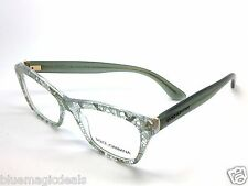 Dolce&Gabbana Eyeglasses DG3198 2855 Sage Lace Plastic Cat Eye Frame 52mm/5057