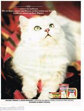 PUBLICITE ADVERTISING 095  1991  GOURMET aliment pour chat patée