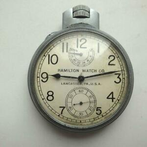 1941 Hamilton Original US Navy Ship's Chronometer Watch Good Working 2.8 in""