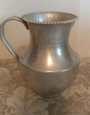 Vtg Cromwell Hand Wrought Hammered Aluminum Pitcher