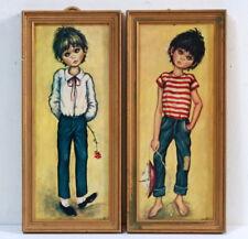 2 tableaux d'enfant par Idylle 1960 / 1970