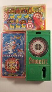 LOT OF 3 POCKET GAMES TOMY 1977 , BLUEBOX 1976 , EPOCH 1976  ☆USED☆