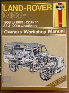Haynes 529 Land Rover Diesel Series 2 2A 3 Owners Workshop Manual