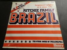 RITCHIE FAMILY, DISQUE VINYLE 45 TOURS SINGLE, BRAZIL, VINYL RECORD