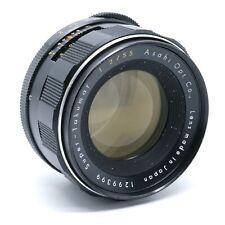 Pentax Asahi Super-Takumar 55mm F/2 Manual Focus Prime Lens - M42 Screw Mount