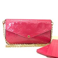Louis Vuitton Monogram Vernis Pochette Felice Chain Wallet Shoulder Bag /11101