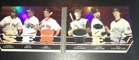 Topps Triple Threads World Series Red Sox Rockies 2007 Booklet Relic MR TH MH ML