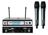 NEW Better Music Builder Dual Ch VM62U Beta UHF Wireless Microphone MIC System