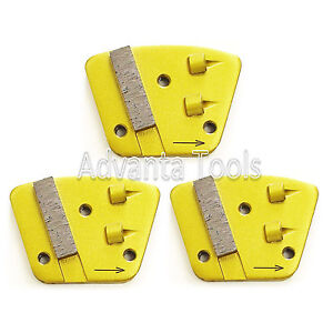 3PK Trapezoid Double Quarter Round PCD Grinding Disc Plate - Right Hand